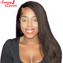 Italian Yaki Straight Lace Front Human Hair Wigs For Black Women Pre Plucked With Baby Hair