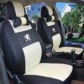 Cubierta de asiento de coche Univeraal para peugeo t 307 206 308 407 207 406 408 301 3008 accesorios del coche etiqueta engomada del coche