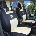 Univeraal car seat cover for peugeo t 307 206 308 407 207 406 408 301 3008 car accessories car sticker