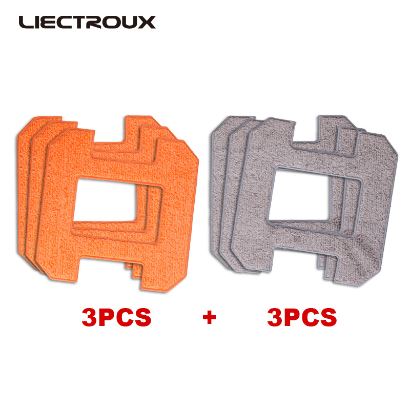 (For X6) Liectroux Fiber Mopping Cloths  For Window Cleaning Robot X6, 6pcs/pack