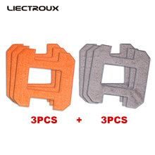 (X6 용) liectroux fiber mopping cloths for window cleaning robot x6, 6 개/갑/팩(China)