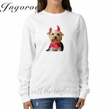 Babaseal Little Yorkshire Terrier Dressed As Devil Kpop Unicorn Hoodie Fashion Print Marilyn Manson Hoodie Tgif Off White Hoodie