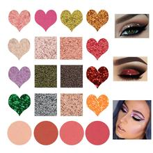 BellyLady 20 Colors Eyeshadow Palette Glitter Shimmer Matte Eyes Makeup Pigmented Powder Waterproof Eye Shadow