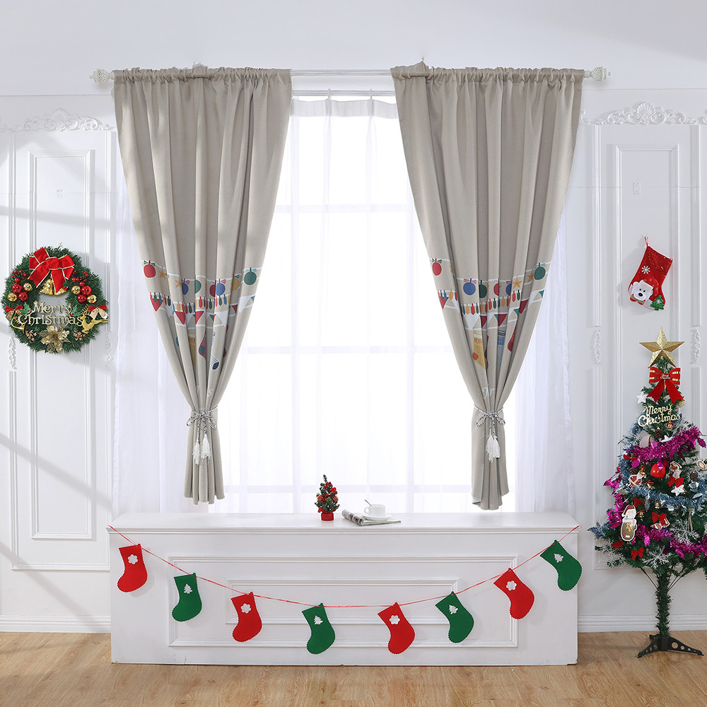 Permalink to Window Curtain Cute Snowman Christmas Curtain Tulle Window Treatment Divider Tulle Voile Drape Valance 1 Panel Fabric Decorative