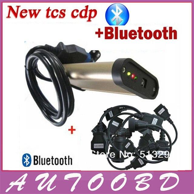 [Качество +] Последняя Версия 2013. R3 + (Активатор Кейген) Золото TCS CDP Bluetooth с 8 шт. Грузовик Кабель Авто Диагностическое Оборудование