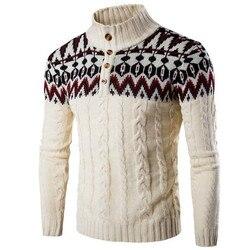 Zogaa invierno grueso cálido suéter de cachemira para hombre cuello alto suéteres de hombre delgado Fit pulóver hombres clásico lana punto Pull Homme