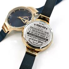 Do mojej mamy automatyczne zegarki kwarcowe wodoodporne damskie zegarki dostosowane grawerowane zegarki luksusowe modne niebieskie zegarki tanie tanio REWARD QUARTZ 3Bar Bransoletka zapięcie Biznes Stop Papier Odporne na wodę STAINLESS STEEL 32mm M4903 21cm Hardlex 10mm