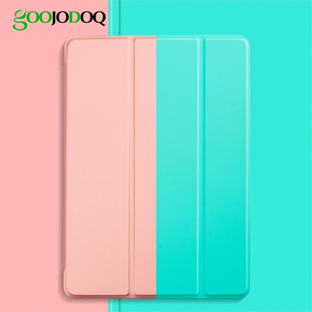 GOOJODOQ para ipad 2018 caso 9,7 2 1 5 6 caso Funda Slim TPU de silicona Shell cubierta inteligente para ipad 6th generación caso