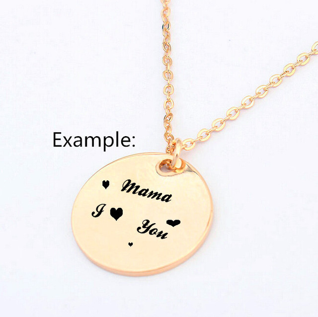 Simple Round Gold Plated Monogrammed Pendants