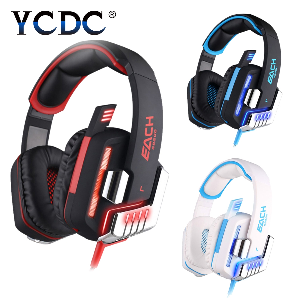 3.5mm Cable Game Headphone Vibration USB Surround Sound Gaming Headset Earphone casque with Mic LED Light for PC Gamer original pc900 gaming headset 7 1 surround sound channel usb wired headphone with mic volume control best casque for gamer