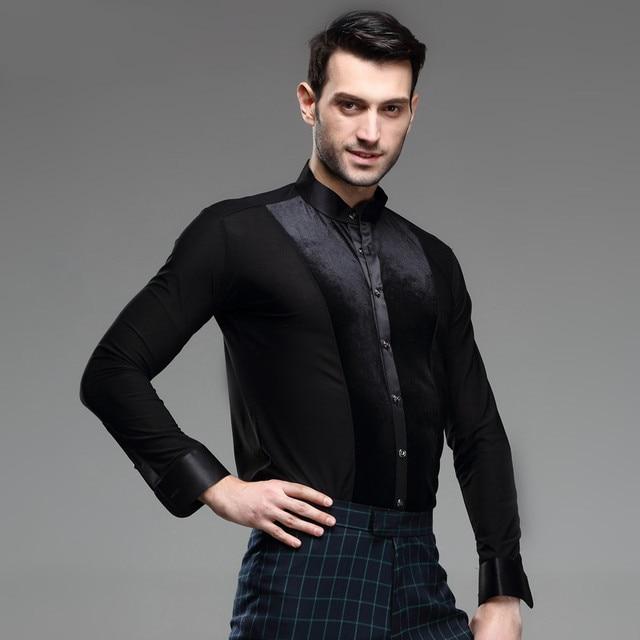 cb0209b6a € 31.75 9% de DESCUENTO 2018 América Nueva Masculina Ropa Camiseta de  Entrenamiento de Baile Latino Samba Rumba Moderna Desgaste del  Funcionamiento ...