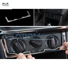 1 шт., автомобильные наклейки из нержавеющей стали, ручной переключатель кондиционера, украшение, блестки для 2011- Volkswagen VW POLO