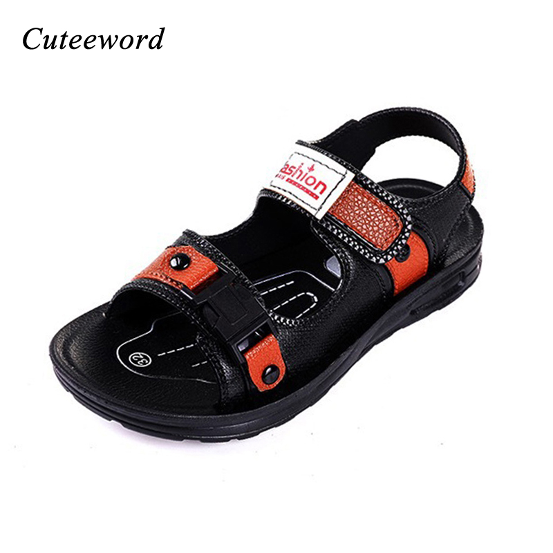 Summer children shoes boys sandals fashion kids leather beach shoes non-slip soft rubber bottom comfortable boy casual sandals