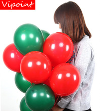 VIPOINT PARTY 100pcs 10inch green red latex balloons wedding event christmas halloween festival birthday party HY-371