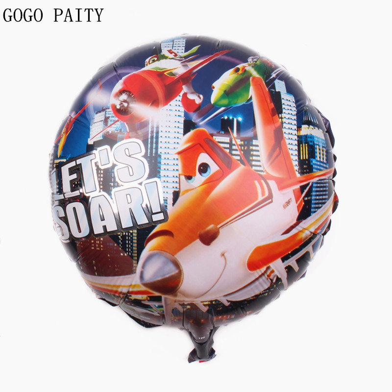 GOGO PAITY the airplane party balloons Foil baloes Kids Birthday baloon Kids Classic Toy Story balloon aircraft