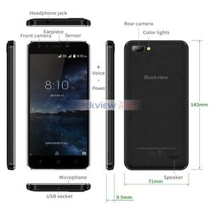 """Image 3 - Blackview A7 telefon komórkowy Android 7.0 MTK6580A czterordzeniowy 5.0 """"1 GB 8GB 3 kamery 3G WCDMA 2800mAh smartfon dual sim"""