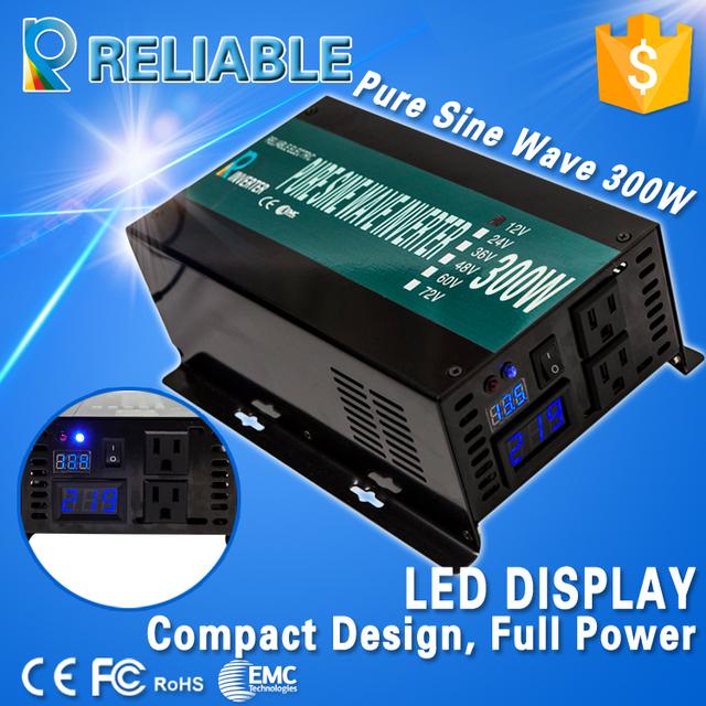 Off Grid 300W 12V 220V DC to AC Voltage Converter Pure Sine Wave Solar Power Generator Adaptor Car Inverter Home Power Supply