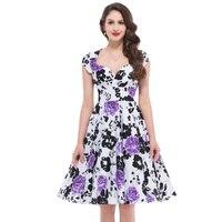 Belle Poque Summer Dresses 2017 New Elegant V Neck Women Short Sleeve Print Dress For Party