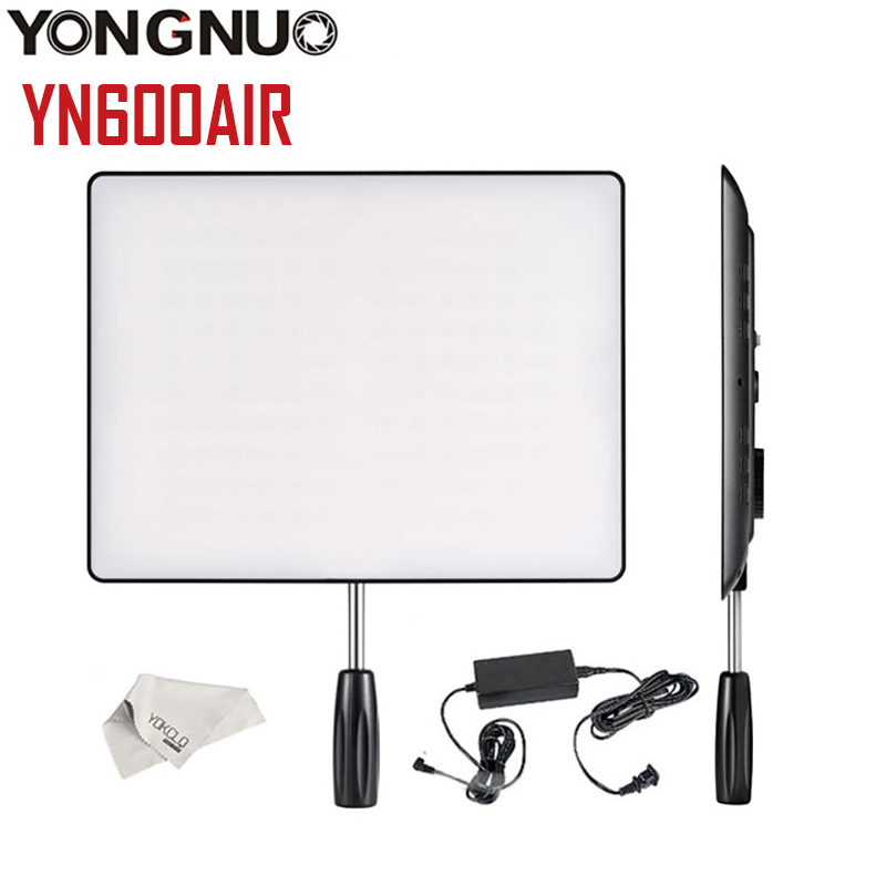 High Quality YONGNUO <font><b>YN600</b></font> <font><b>Air</b></font> 3200K-5500K LED Camera Video Light Photography Studio Lighting For Canon NIKON + Adapter image