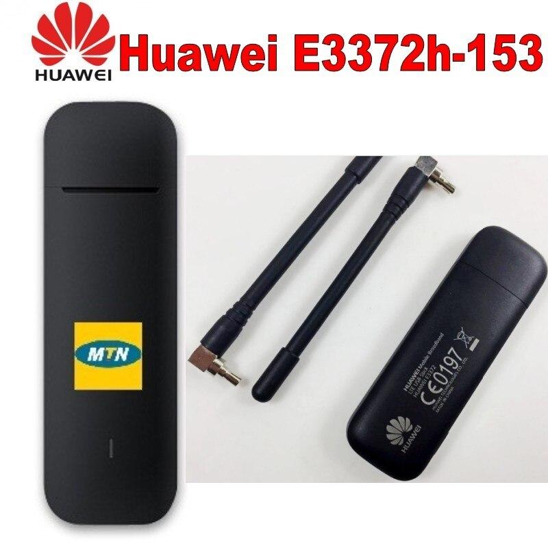 Lot de 10 pièces débloqué Huawei E3372 E3372h-153 150 Mbps avec antenne 4G modem 4G USB modem 4G LTE USB Dongle Stick