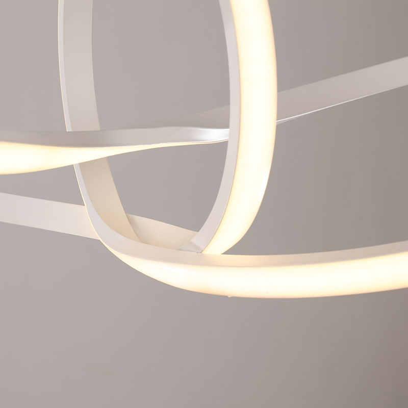 Бесплатная доставка, современный светодиодный подвесной светильник с дистанционным затемнением, алюминиевая Подвесная лампа 90-265 в для столовой