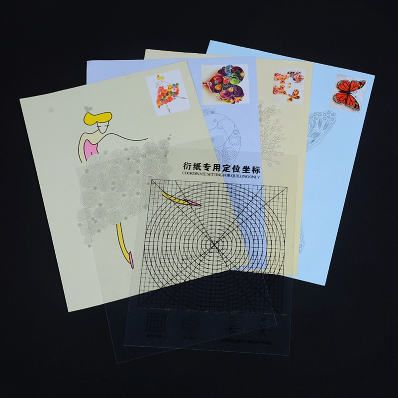 Best Price 16 Style DIY Scrapbooking Paper Quilling Tools Set Coordinate Paper Quilling Drawing Collection Photo Cards Decor