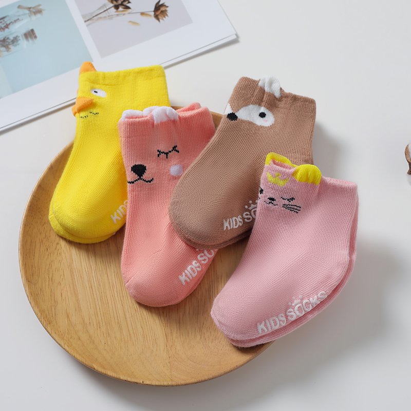 YOOAP newborn  baby socks Cartoon 100% Cotton No-slip Infant spring Fashion Animal Cute Socks anti slip