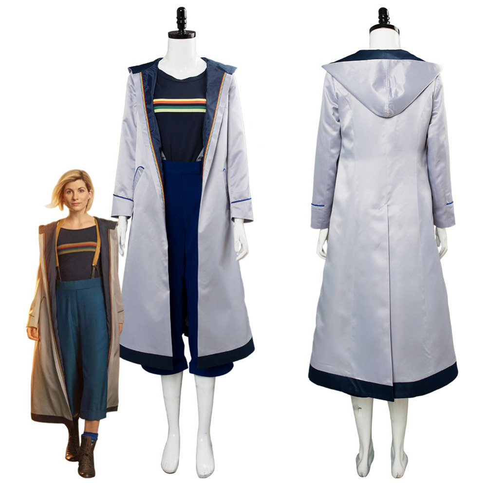 Dr.Who Season 11 the 13th Doctor Jodie Whittaker Cosplay Costume Female Version Halloween Carnival Costumes Custom Made