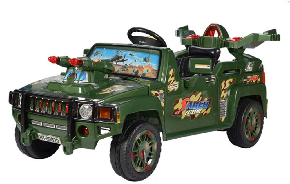 fashionable 4 wheel army suv baby electric car for kids ride on cool kids ride on cars electric children with mp3 in ride on cars from toys hobbies on