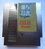 Zeld @ 리믹스 실버 판 6 1 NTSC 및 PAL, 영어 일본어 게임 카트리지 NES, 무료 먼지 소매