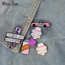 168e68b6118 Розовый Фиолетовый Эмаль pin автомобилей брызги вина стеклянная бумага  Сережка клипса нагрудный знак брошь джинсовая рубашка сум.