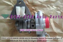 Free Ship 1 nozzle Turbo TF035HM 28200-4A210 49135-04030 Turbocharger For Hyundai Starex Libero Galloper II D4BH 4D56A-1 2.5L