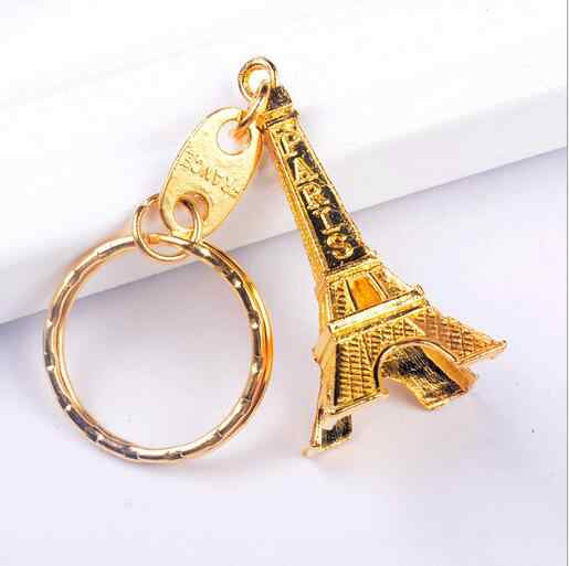 Paris Torre Eiffel Chaveiros de Metal Retro do vintage Chave Anéis Chains Para Homens & Mulheres Saco Encantos Pingente de Chave Do Carro Titular lembranças do presente