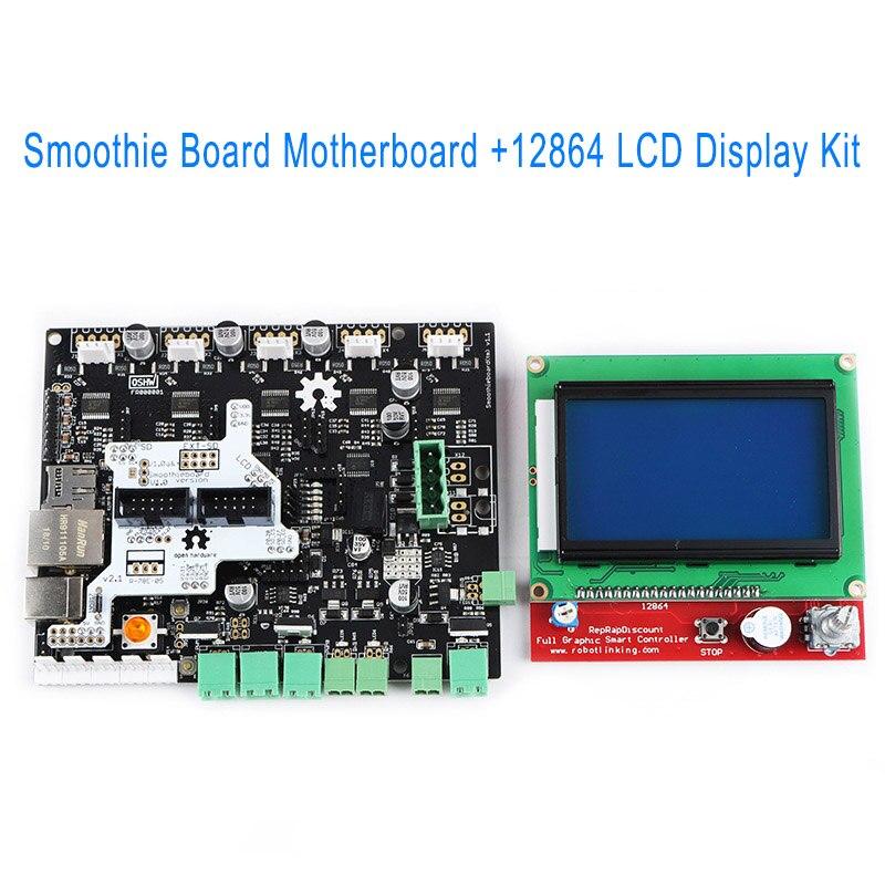 Smoothie Conseil 5X V1.1 + 12864 écran lcd kit écran pour 3D Imprimante DJA99