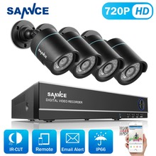 SANNCE 8CH 720P CCTV System H.264 1080N DVR 4pcs 720P 1200TVL IR Outdoor Waterproof CCTV Camera Home Security Surveillance Kit