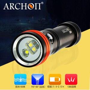 Image 5 - 2018 yeni ARCHON D15VP dalış Video Spot ışık CREE LED Max 1300 lümen 110 / 30 derece 100M sualtı dalış el feneri