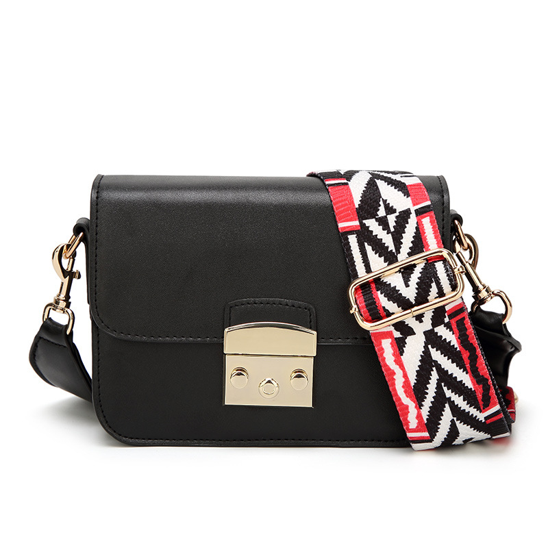 2017 Women Messenger Crossbody Small Bag PU Leather Handbag Fashion Solid Mini Colorful Strap Women Shoulder Bags Sac A Main