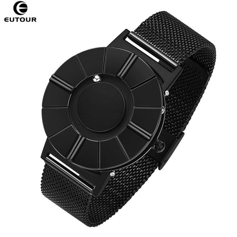 Montre EUTOUR pour homme montre à bille magnétique innovante montre homme en acier inoxydable bracelet en Nylon étanche montres à Quartz