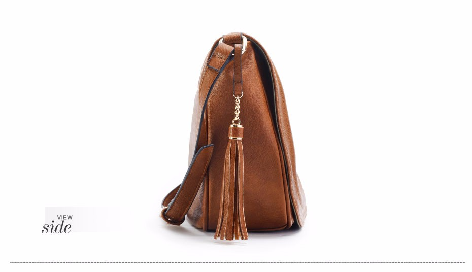 AMELIE GALANTI casual crossbody bag soft cover solid saddle fashion women messenger bags high quality shoulder bag for women   (11)
