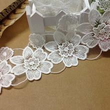 10Yards Venise Lady Dress Sewing Flower Floral Lace Trims Applique Retro Scallop Bridal Wedding Decor Accessories 2017 New