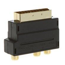 ETC-RGB Scart to Composite RCA+S-Video AV TV Audio Adapter