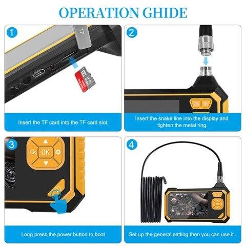 1080 p camera de inspecao endoscopio industrial