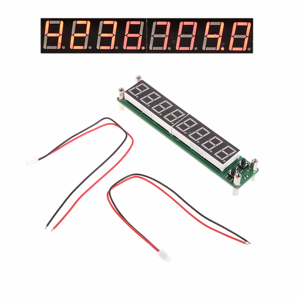 0.1-60MHz 20MHz-2.4GHz RF 8 Digit LED Singal Frequency Counter Meters Cymometer Tester Tools