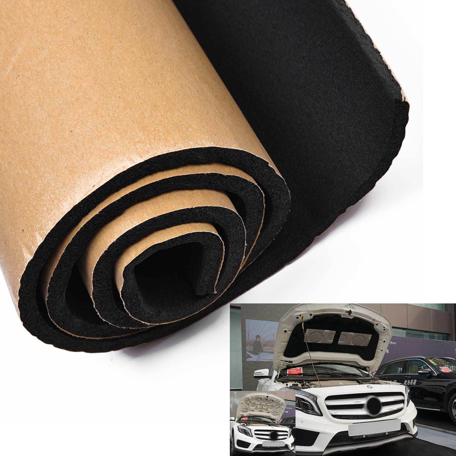 Car Self Adhesive Insulation Auto Thermal Sound Deadener Blocker Sound Proofing