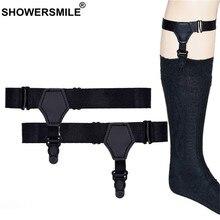 c25820ba165 SHOWERSMILE Brand Adjustable Mens Sock Suspenders High Elastic Suspenders  For Stockings Male Single Clip Sock Garters Braces Man