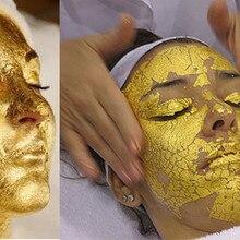 100 sheets 4.33*4.33cm Gold Foil Mask Sheet Spa 24K Gold Face Mask Beauty