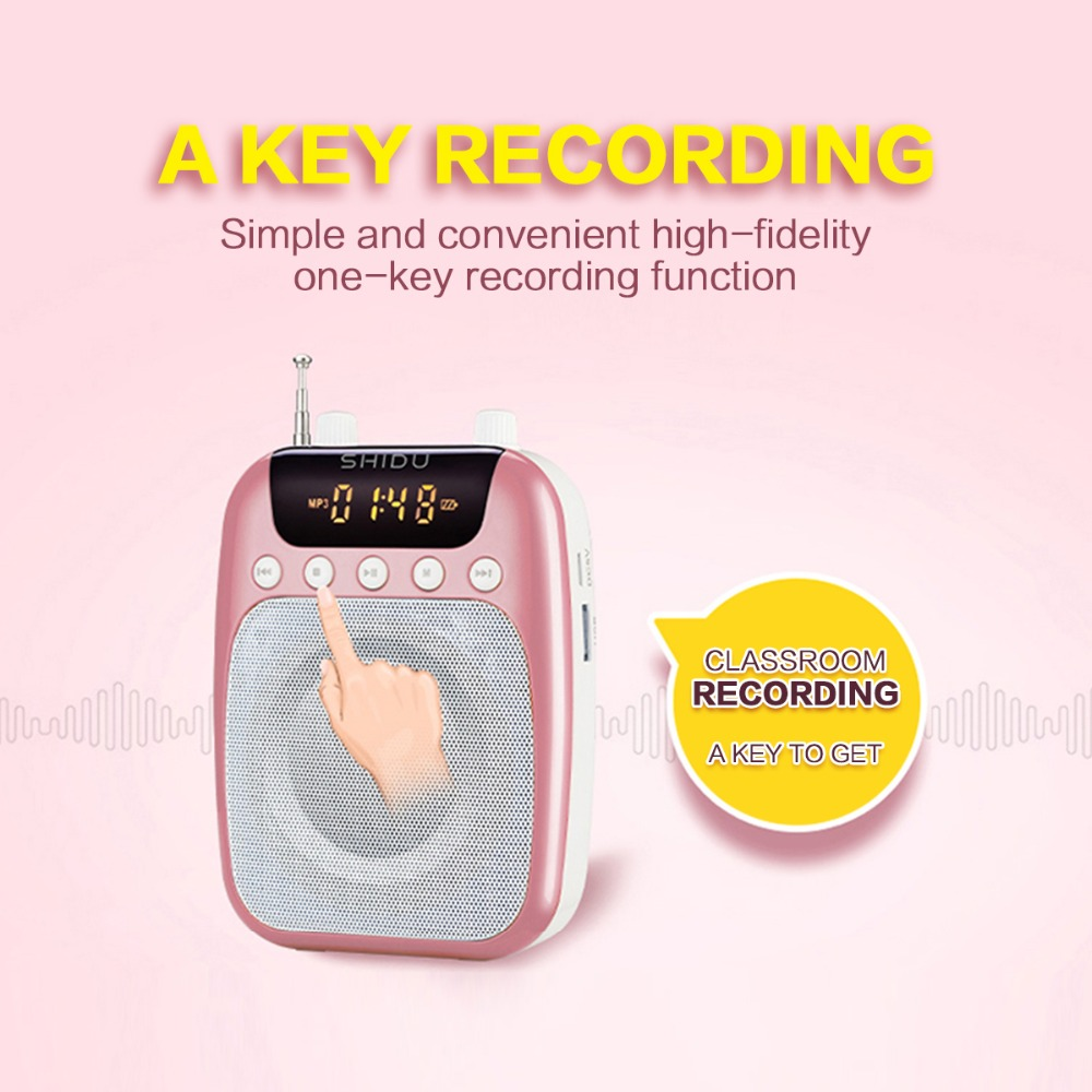 10w Rechargeable Wireless Portable Voice Amplifier Uhf Mini Audio Simple Speaker For Teachers Tour Guide Speakers Yoga Instructors Etc In From