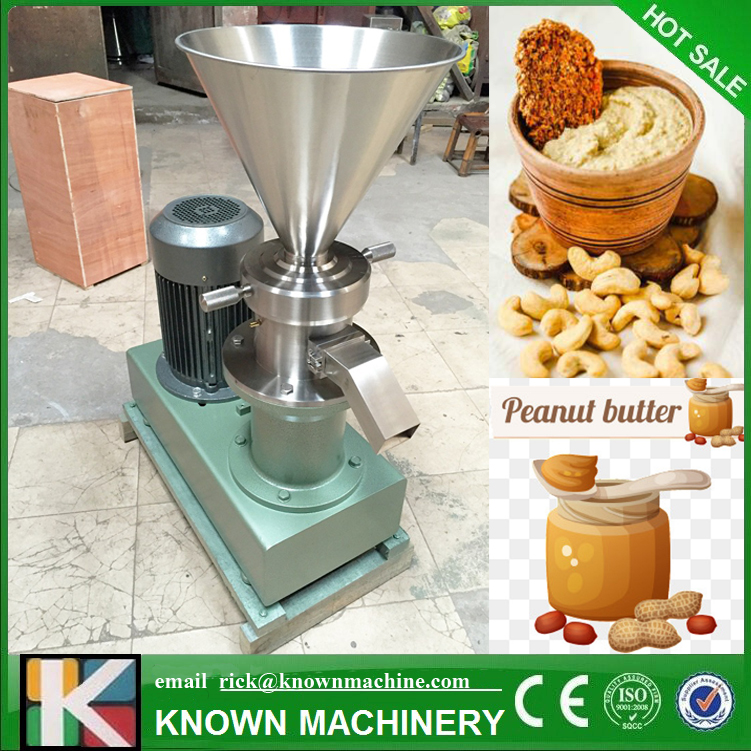 Factory use tahini sesame paste stone grinder mill peanut butter making machine Colloidal mill with bigger capacity udmj 180 peanut butter sesame paste making machine peanut grinder