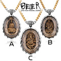Beier new store 316L Stainless Steel Pendant Necklace Plated Gold Buddhism Bring Lucky Fashion Jewelry  BP8-127