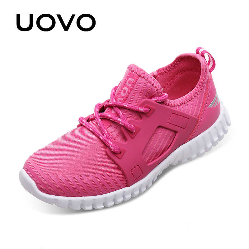 UOVO Sneakers 3137 Lace Light 2019 New Kids Stylish for Closure Shoes up Shoes weigth Comfortable Boys and Girls Kids Eur ordCxBe
